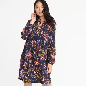 ❤️ Old Navy Floral Print Pintucked Swing Dress